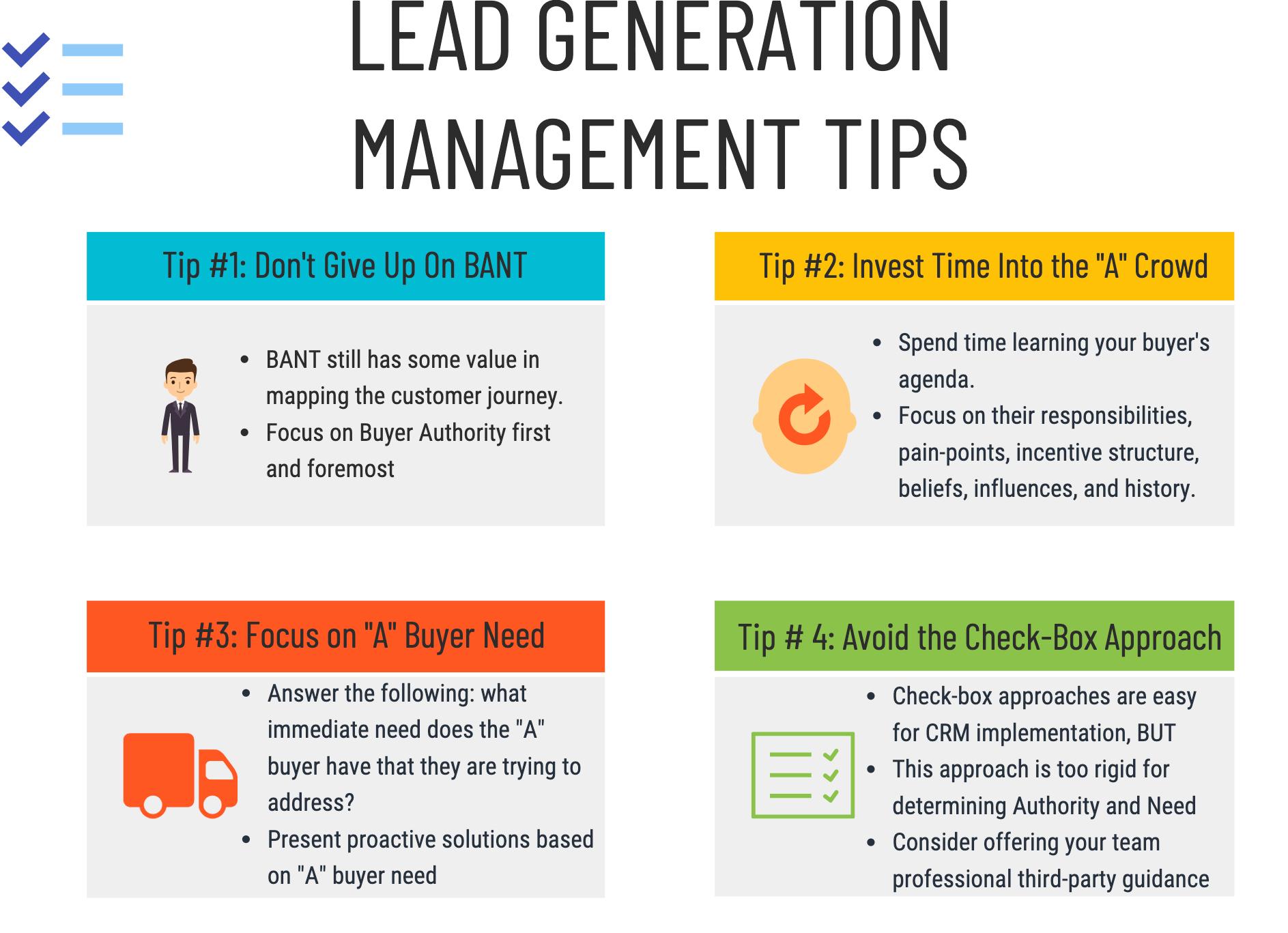 Lead Generation Management Tips