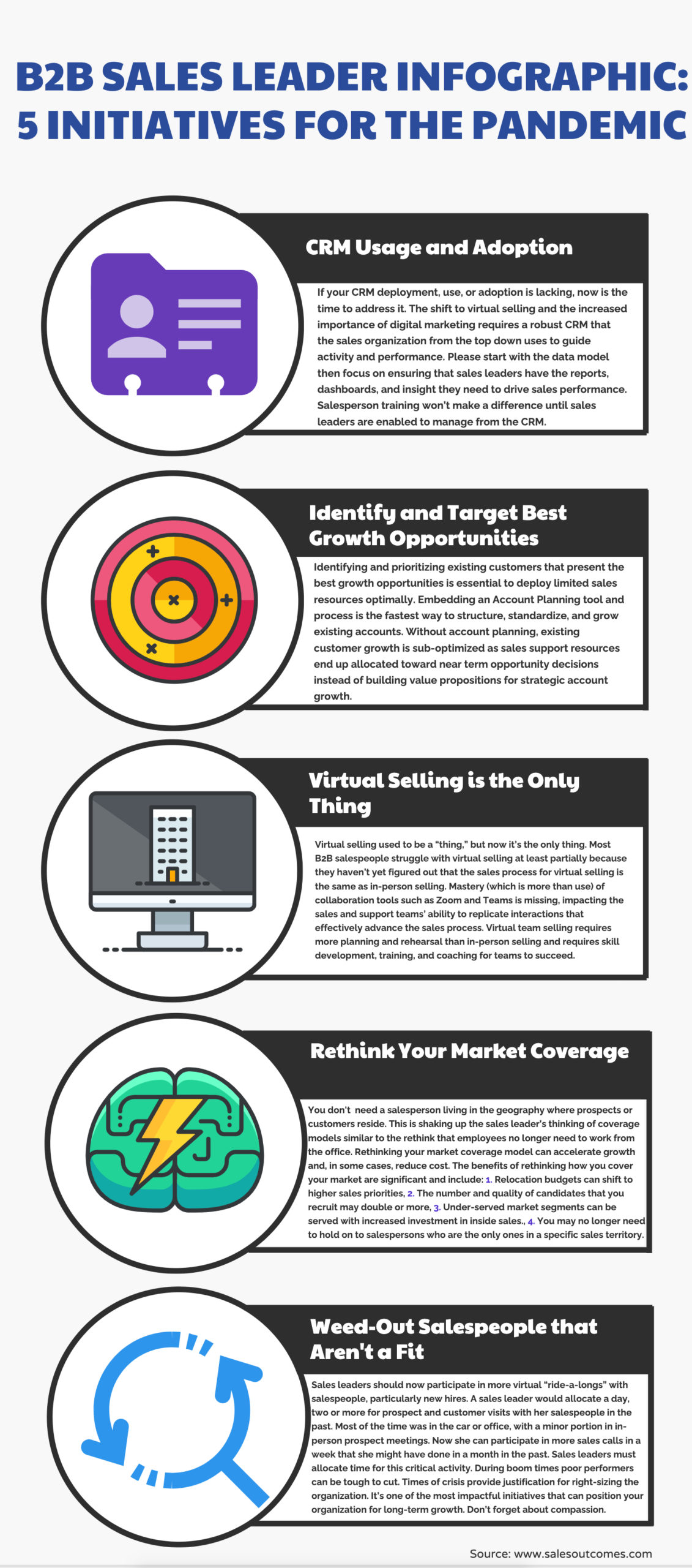 B2B Sales Leader Guide Infographic