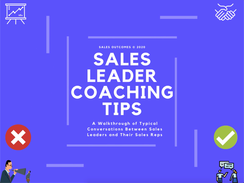 Sales Leader Coaching Tips